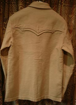 ウエスタンシャツジャケット登場! 本邦初のダブルヨークのシンプルなジャケットです。 いろんなパンツと着まわしがきく万能アイテム。 コットン100%圧縮ピケで  ...