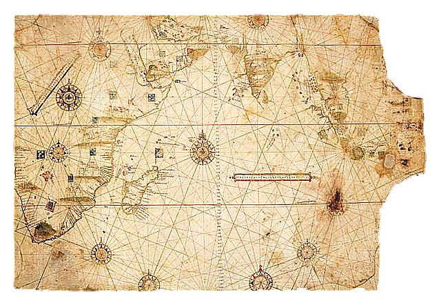 古い地図 閉じるボタン  インド洋上のモーリシャス島