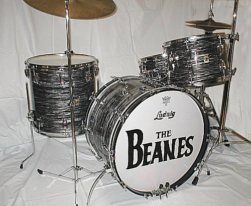 c4ff0d68c1ac Ludwig 90 s Classic kit Oyster Black Pearl (Vintage FAB 4-Piece Outfit)